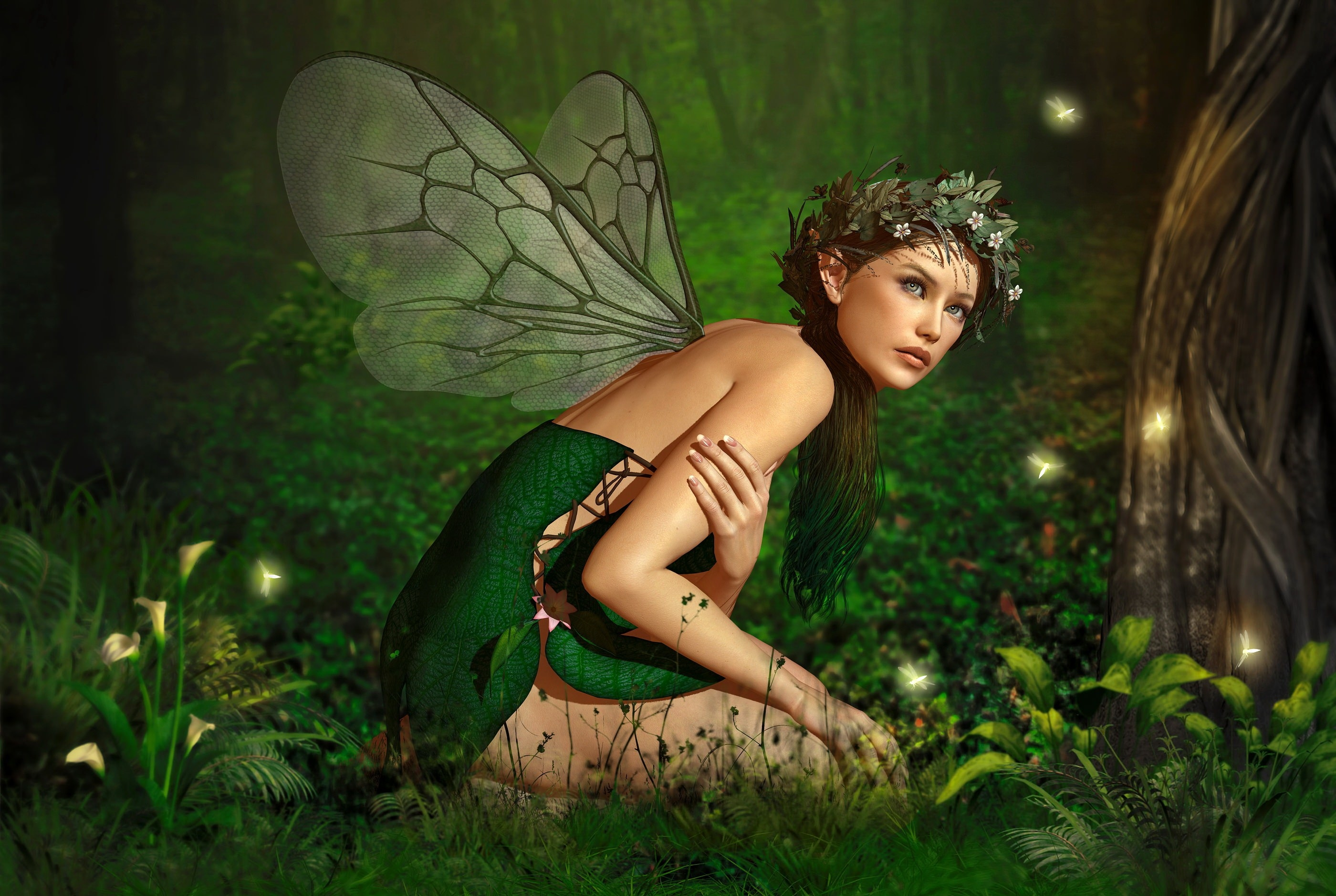 Pretty Forest Fairy Wallpaper