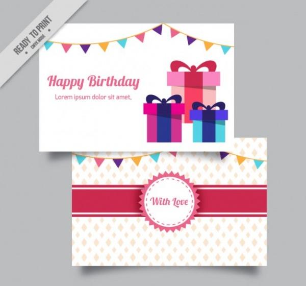 Printable Birthday Gift Card Design