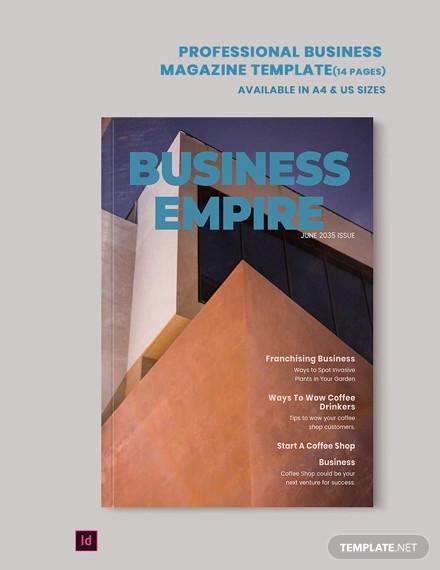 professional business magazine template