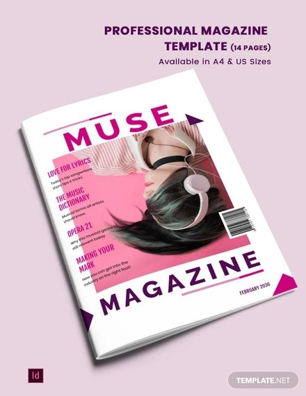 professional magazine template