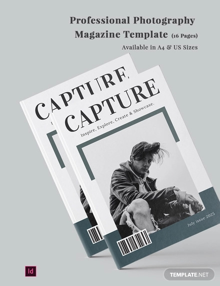 professional photography magazine template
