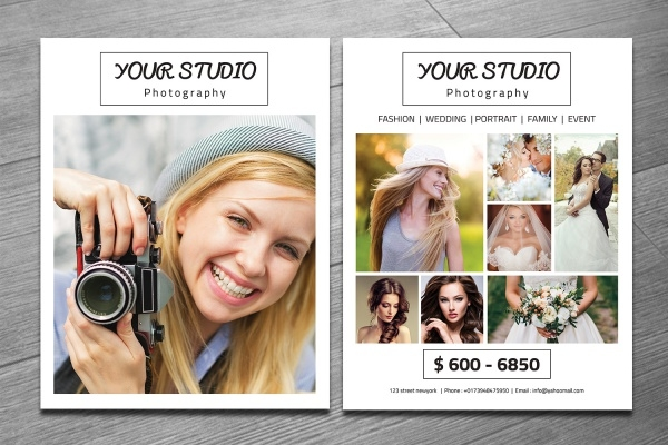 professional photography marketing flyer template