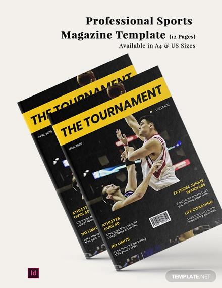 professional sports magazine template