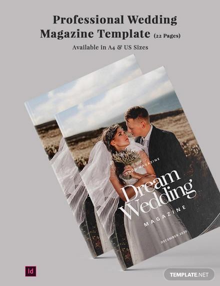 professional wedding magazine template