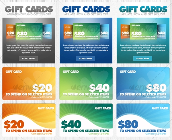 Promotional Gift Card Design