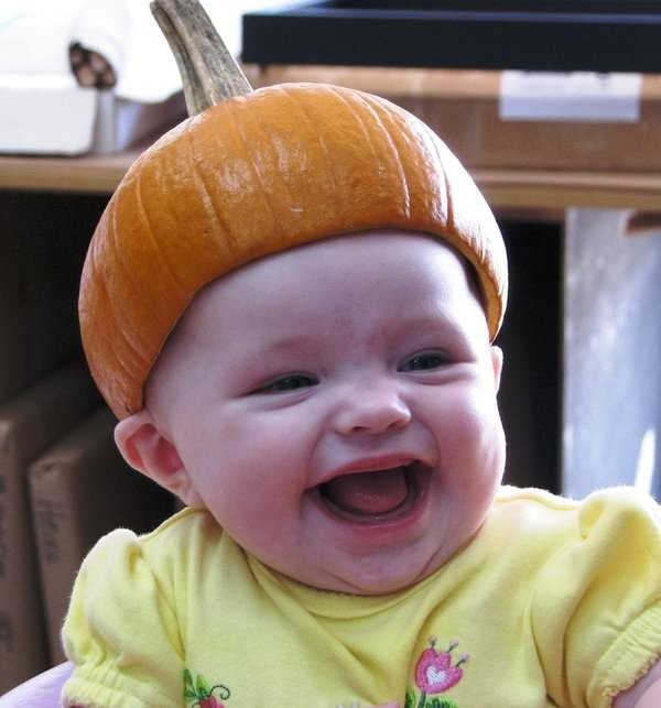 Pumpkin Head Baby Photo