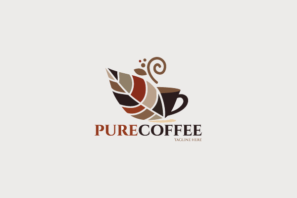Pure Coffee Logo Design