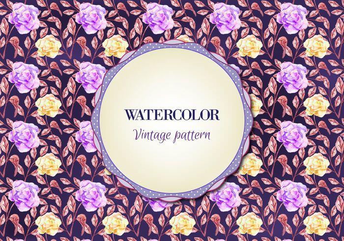 Purple Watercolor VintagePattern