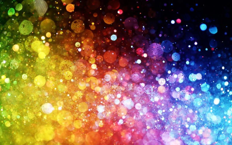 Rainbow Dots Abstract Wallpaper