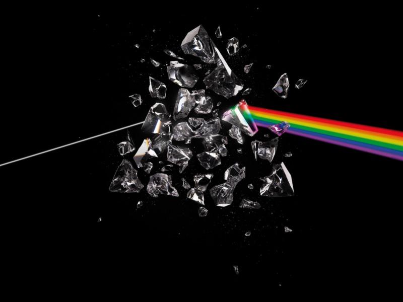 Rainbow Pink Floyd DebrisWallpaper