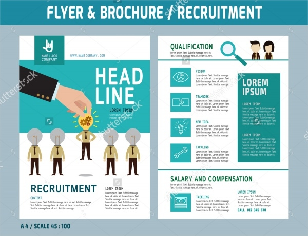 Recruitment flyer Design vector template