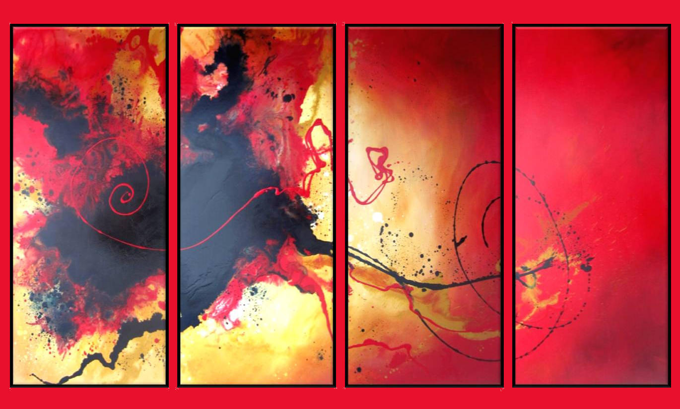 Red Abstract Wallpaper Paintings
