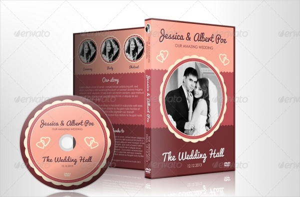 Retro Wedding DVD Packaging
