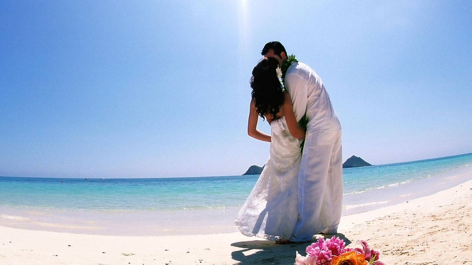 Romantic Beach Wedding Wallpaper