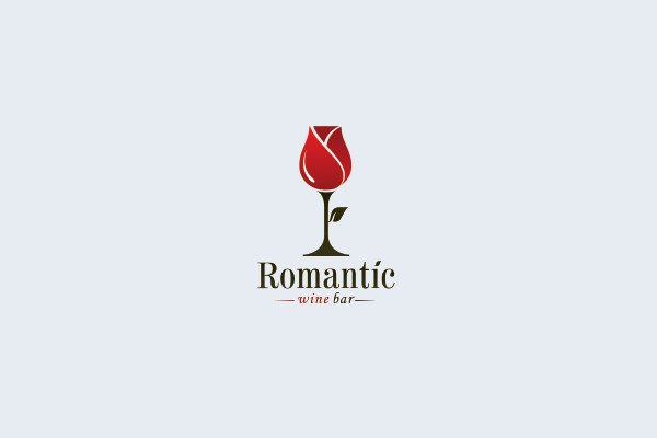 Romantic Wine Bar Logo Design