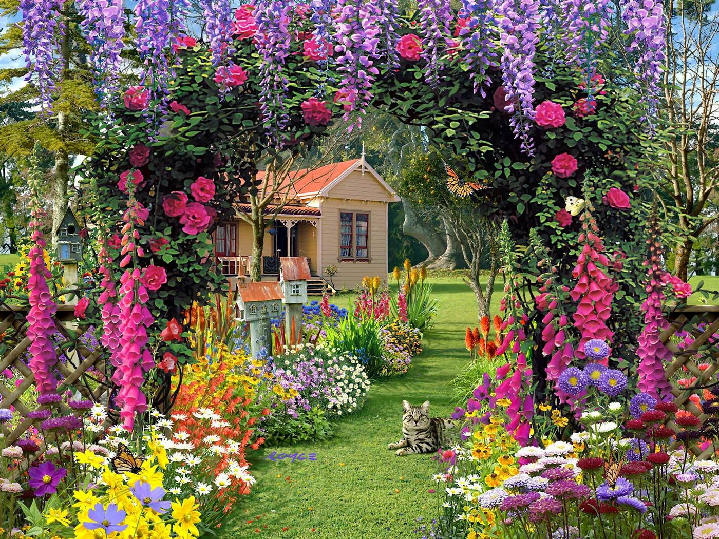Rose cottage PArk Wallpaper