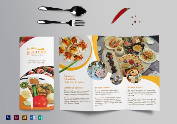 Sample Catering Brochure Template