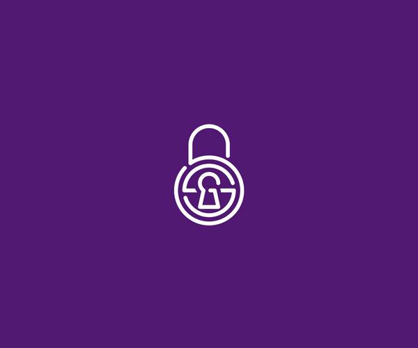 Secret Monogram Lock Logo