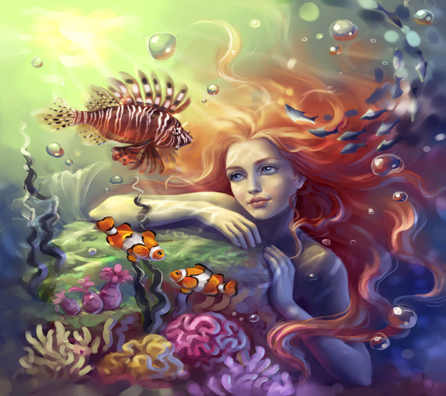 Sensual Mermaid Wallpaper