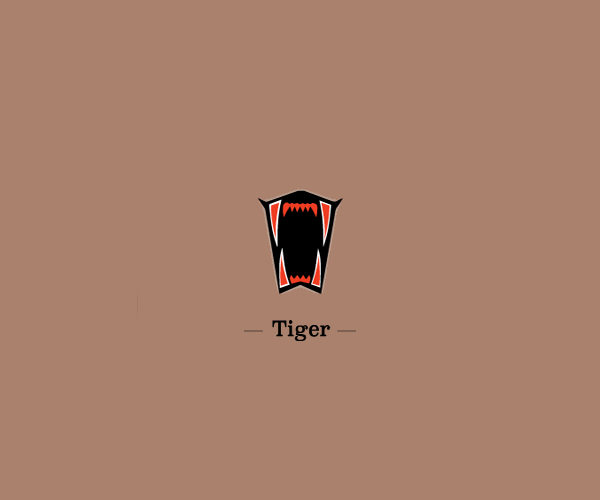 Sharp Tiger Mouth Logo