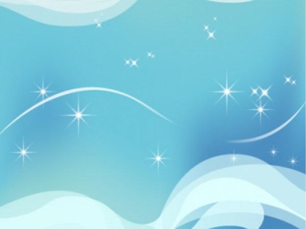 Shiny Stars Sky Wavy Background