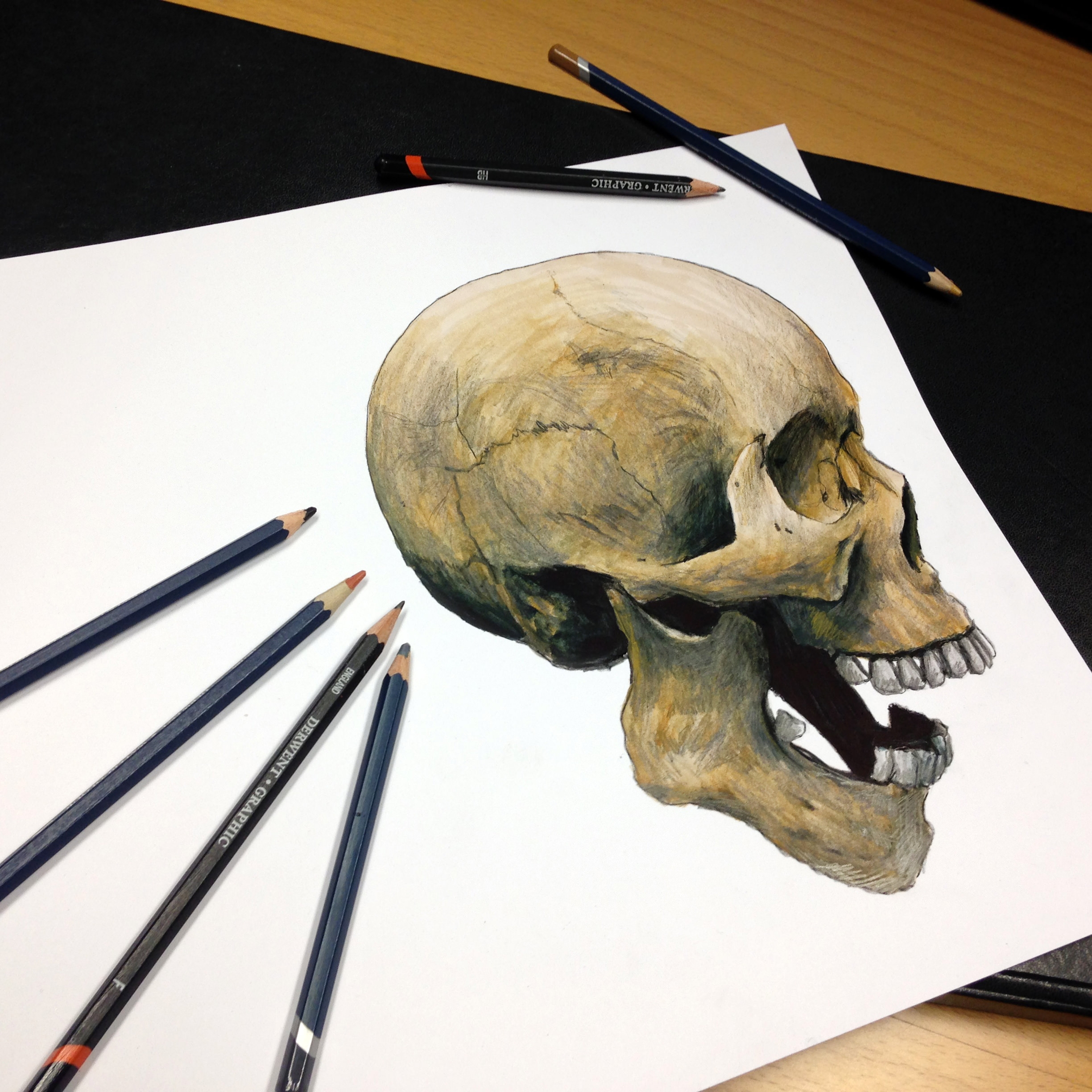 Skull Pencil Drawings