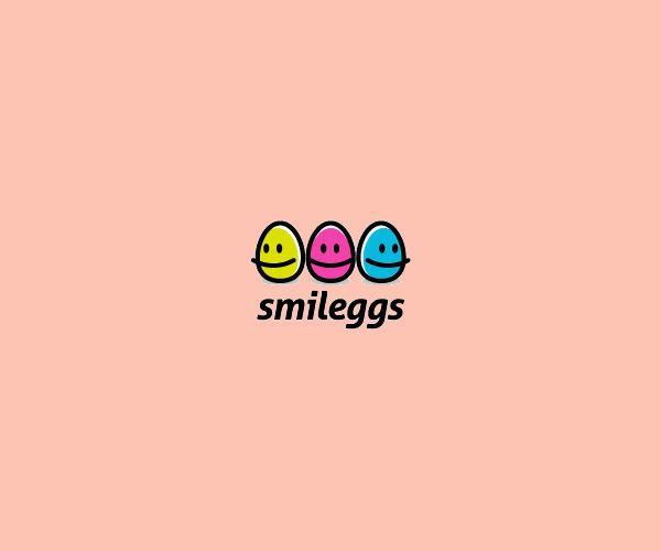 Smile Eggs Flat Logo