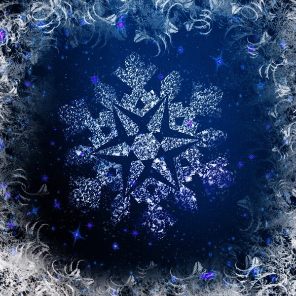 wallpaper crystal snowflake background - photo #17