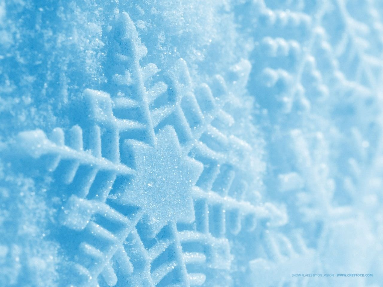 Snowflakes Blue Wallpaper