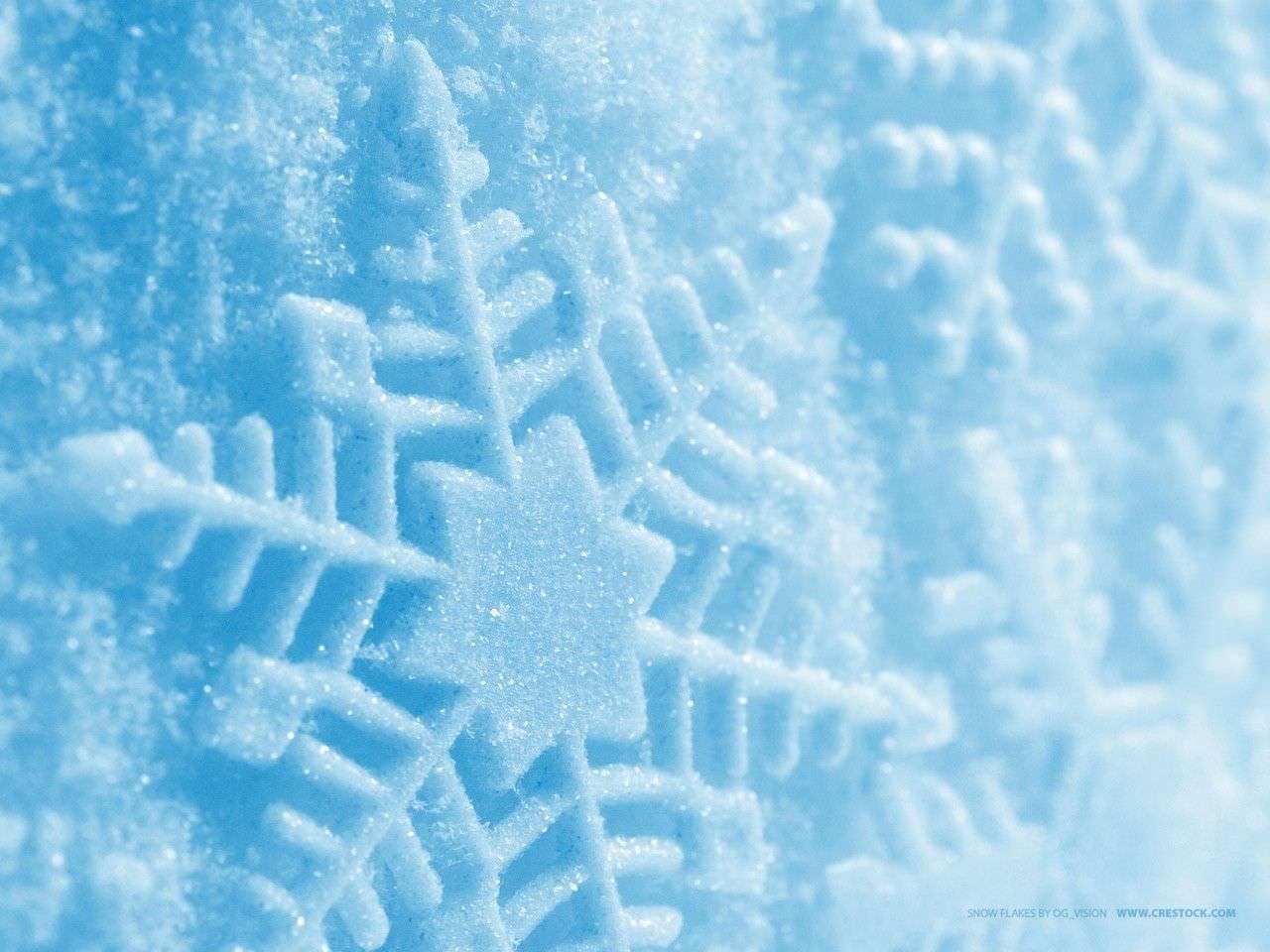 Snowflakes Blue Wallpaper
