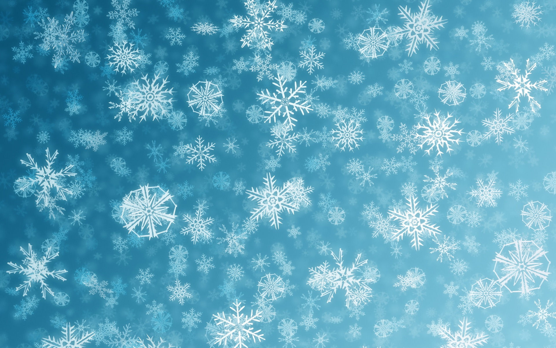 Snowflakes Pattern Widescreen Wallpaper