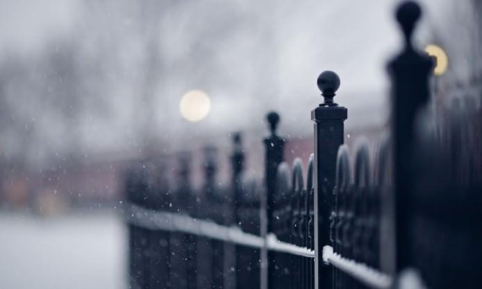 Snowflakes Street Blur Wallpaper