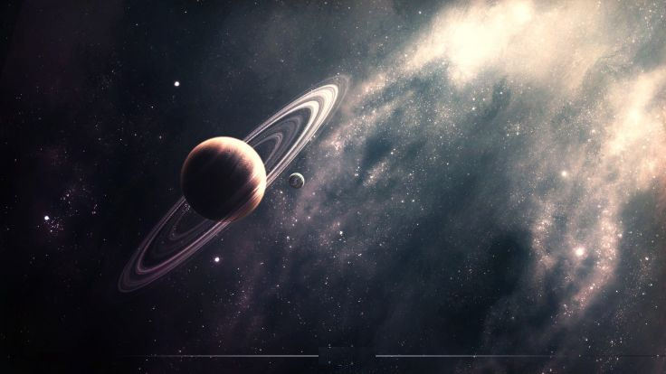 Space Planet Rings Wallpaper