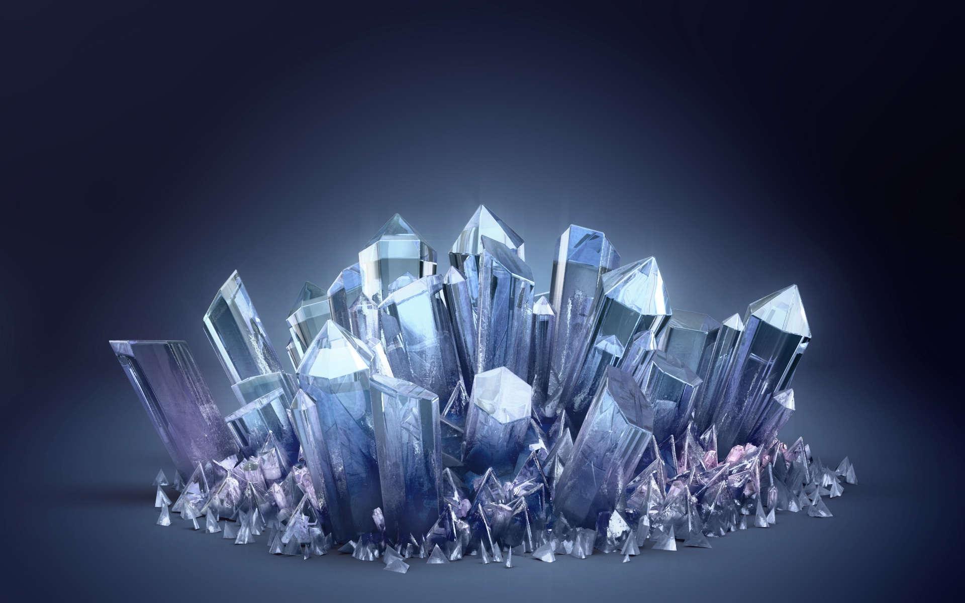 Sparkling Transparent Minerals Wallpaper