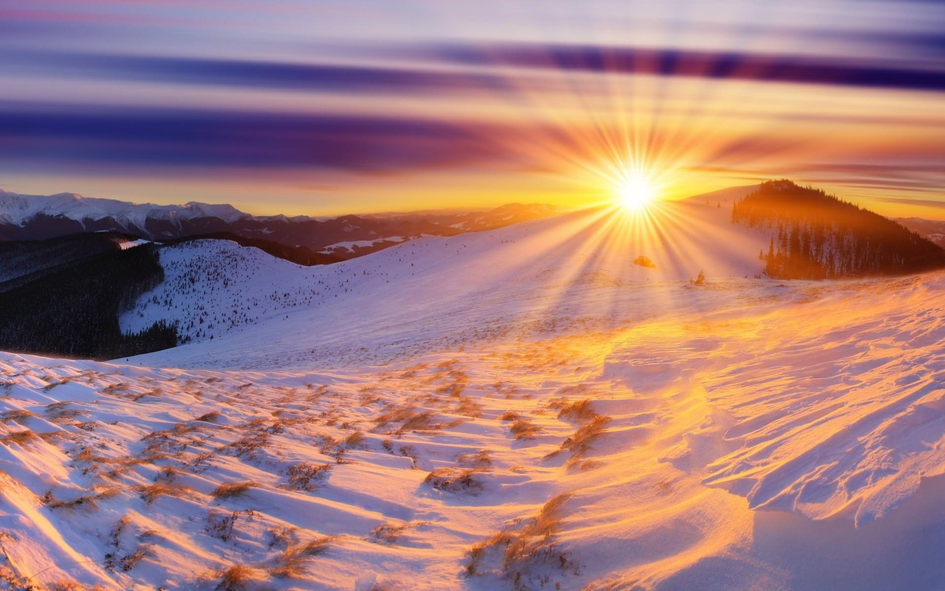 Spectacular Winter Sunrise Wallpaper