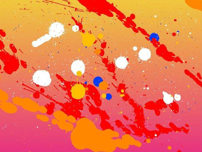 Stained Splashes Splatter Background