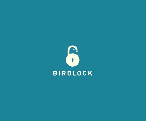Stunning Bird Lock Logo