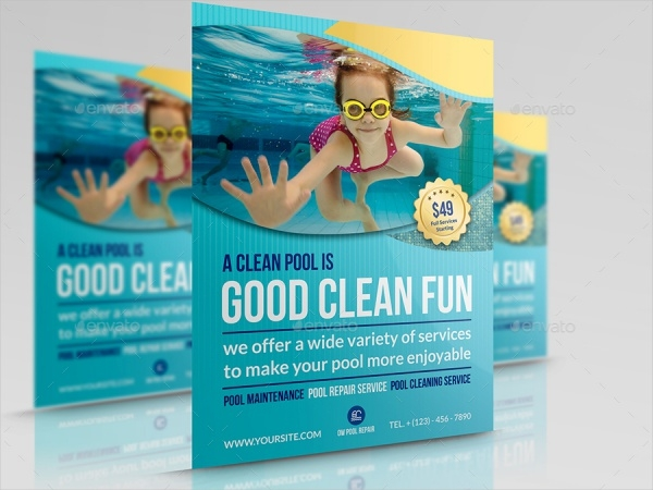 27 cleaning service flyer designs psd vector eps jpg for Pool design templates