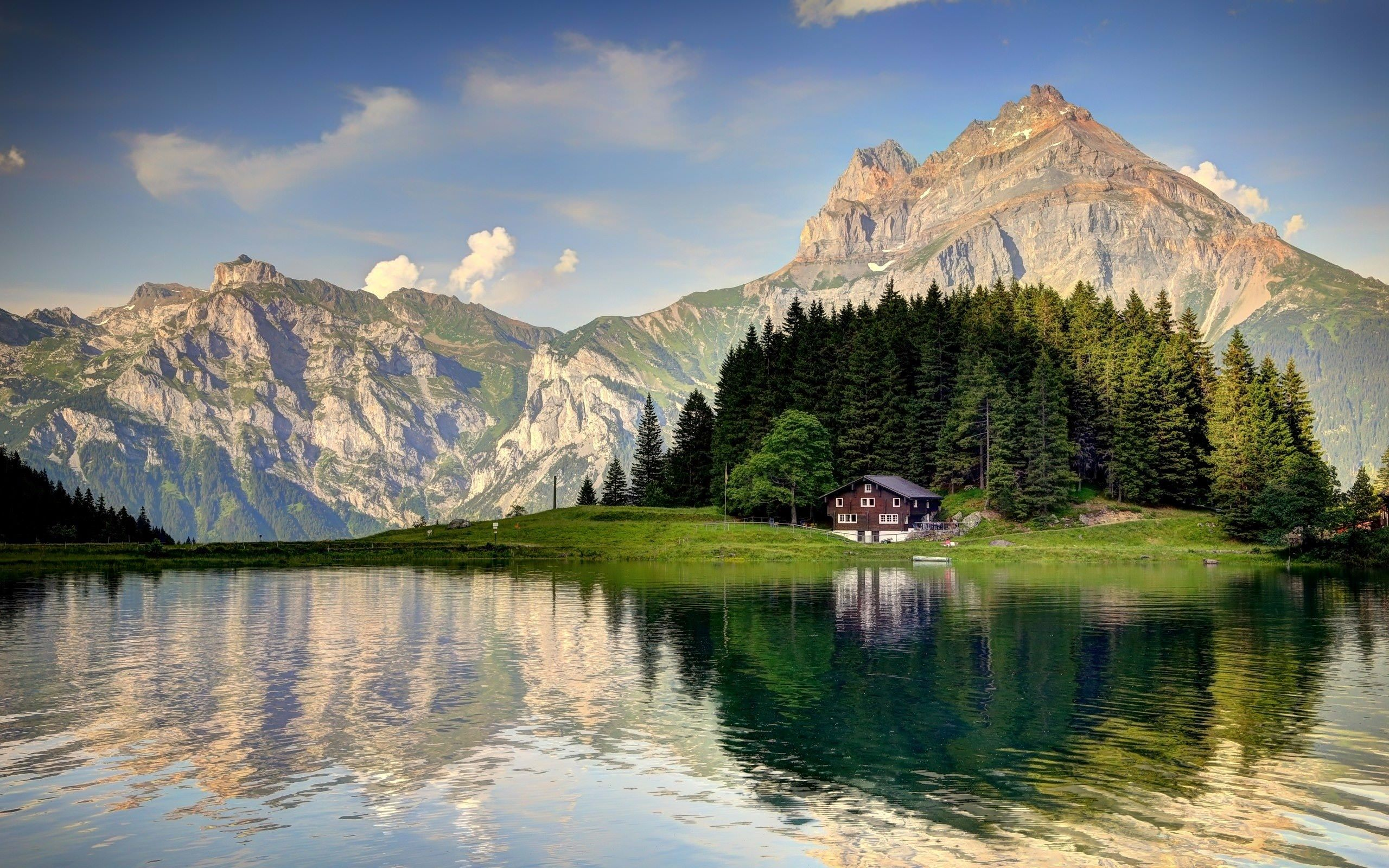 Switzerland Lake Alps Wallpaper