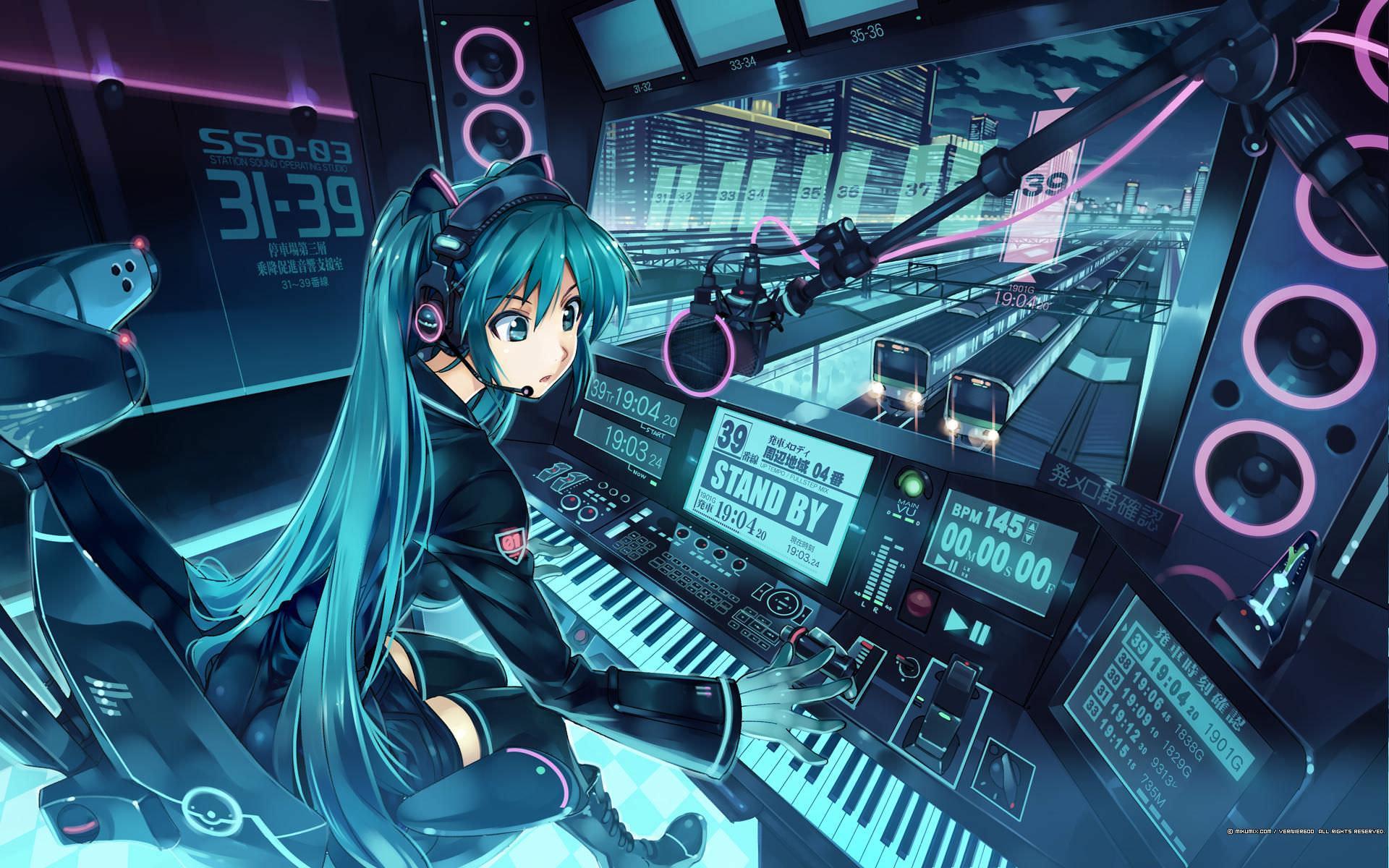 Technology Sciences Vocaloid Wallpaper