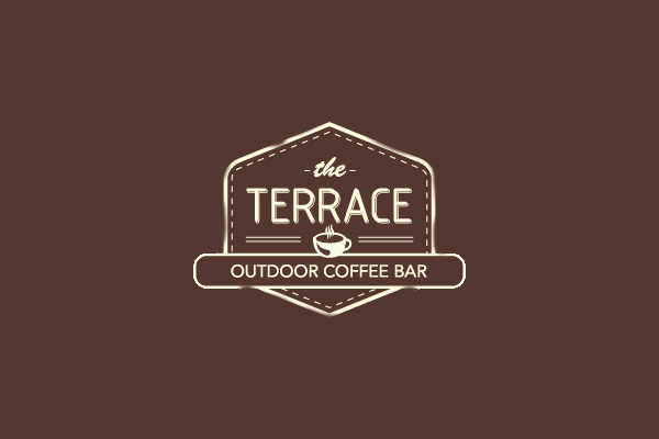 Terrace Outdoor Coffee Cup Logo