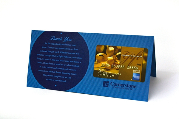 Thank You - Folded Gift Card Holder