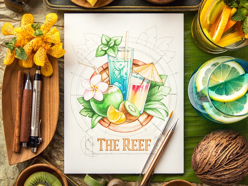 The Reef Beach Bar Logo