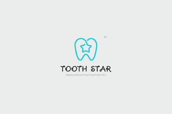 Tooth Star Logo Design