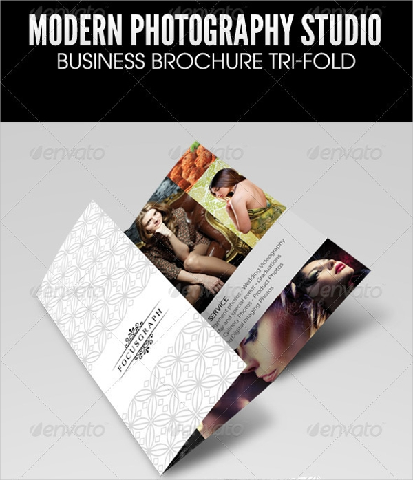 tri fold photography flyer design