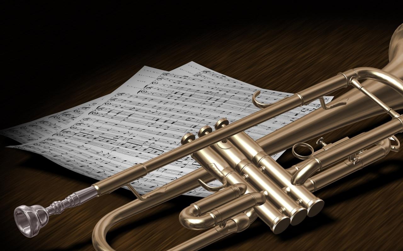 Trumpet in Bes Wallpaper
