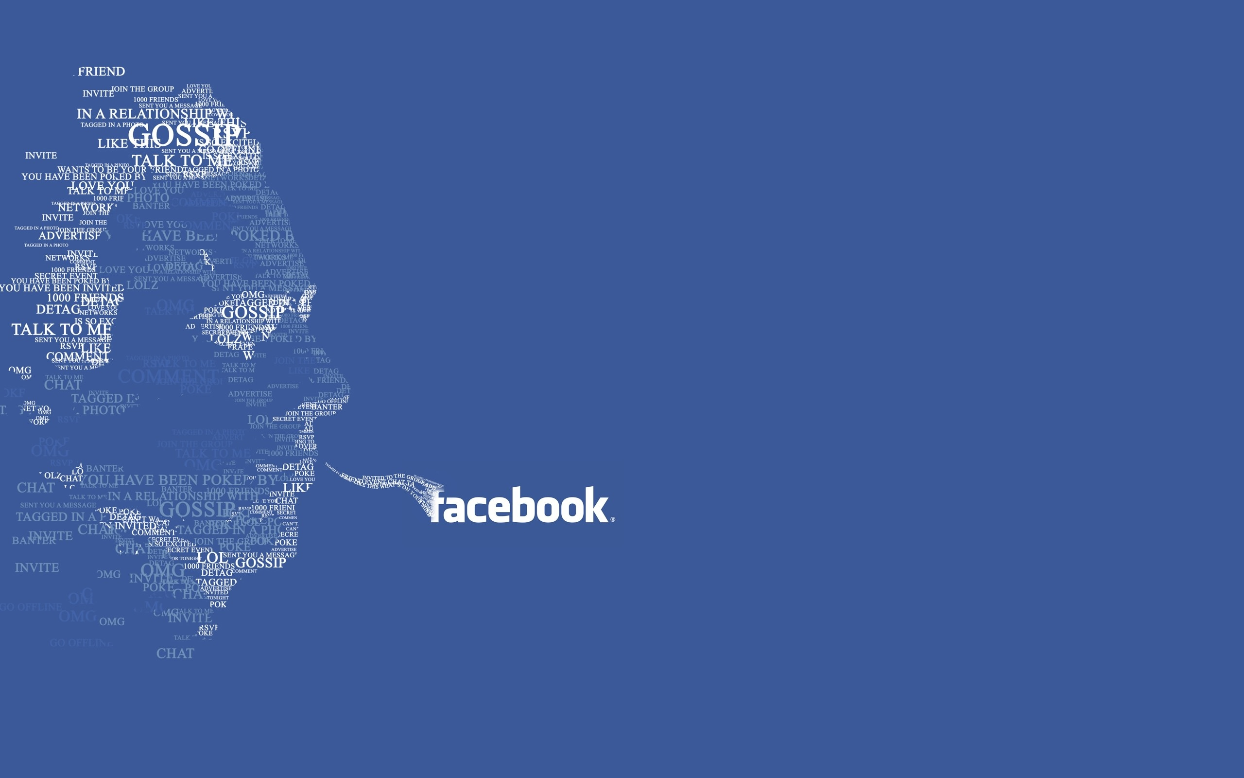 Typography Facebook Background