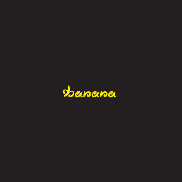Typography Simple Banana Logo