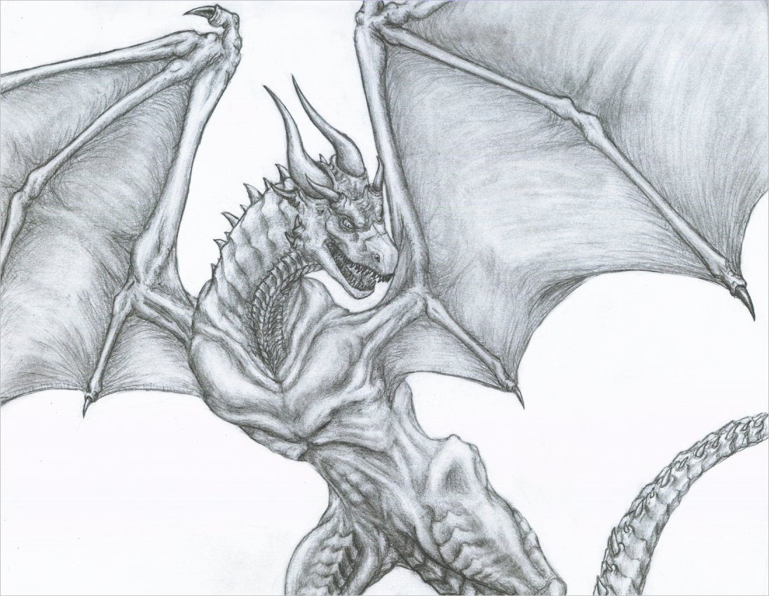 Unique Dragon Drawing