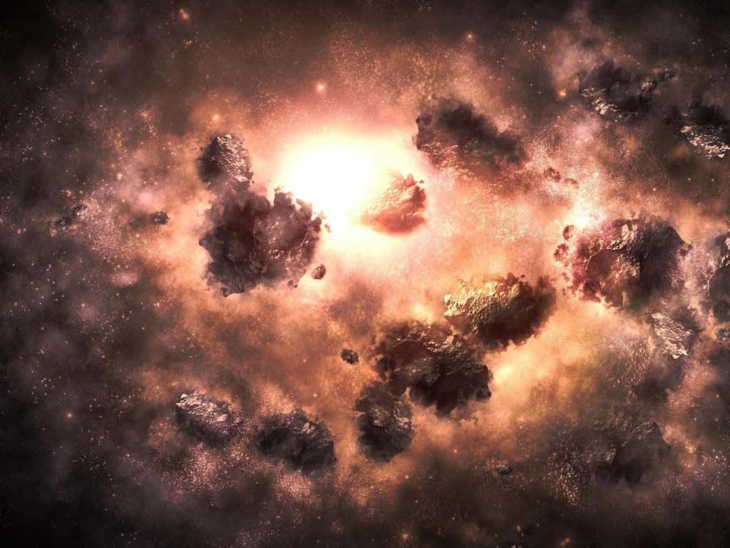 Universe Nebula Explosion Wallpaper